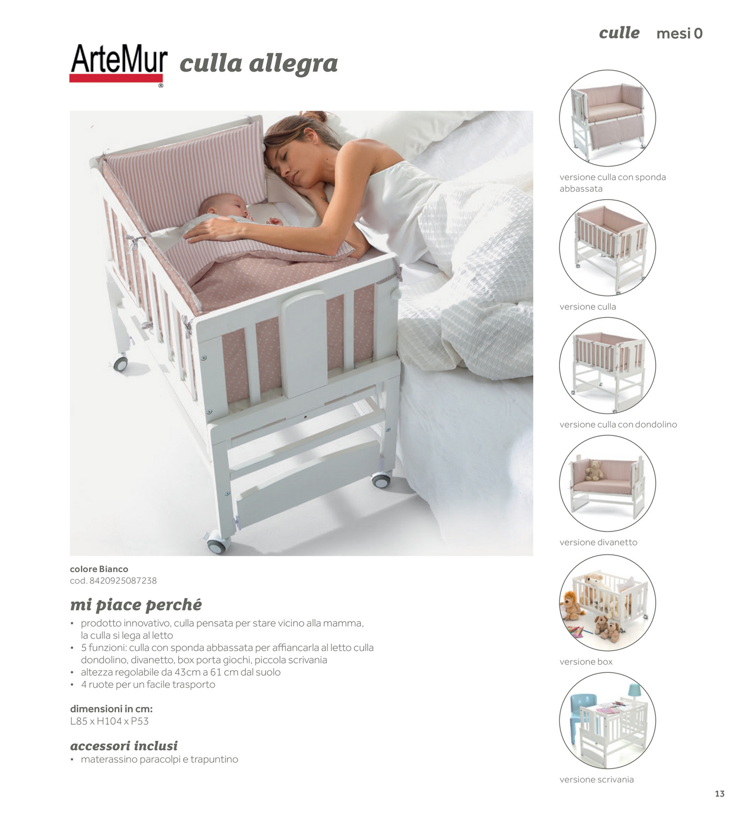 Prenatal it catalogohg indoor 2017 camerette lettini pagina 6 7 - Prenatal sponda letto ...